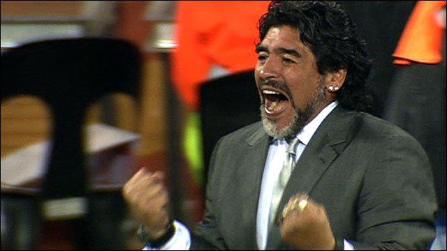 Argentina manager Diego Maradona