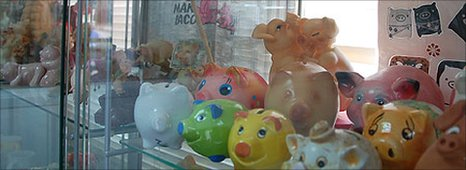 Collection of pig models, Kibbutz Lahav