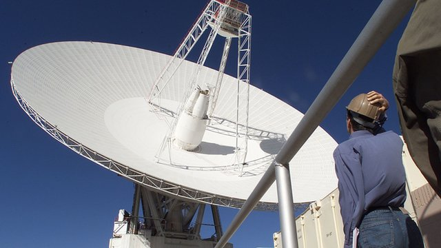 One of the dishes of the Deep Space Network