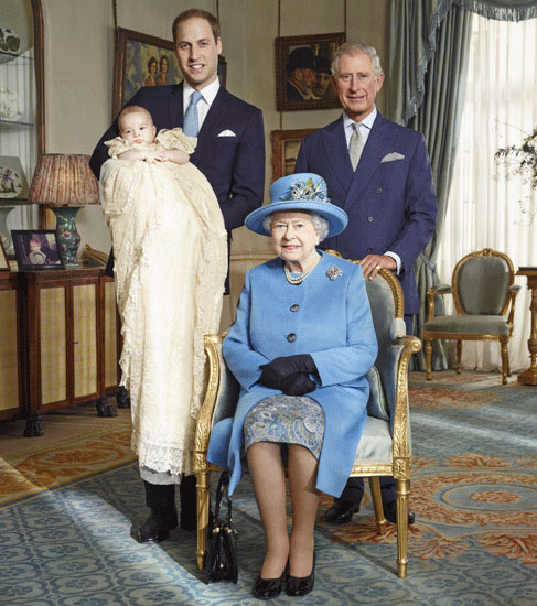 The Queen, Prince Charles, Prince William and Prince George