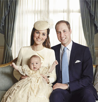 Duke and Duchess of Cambridge and their son George