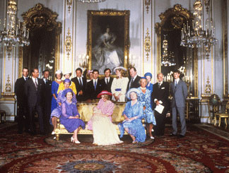 The royal family after the christening of Prince William