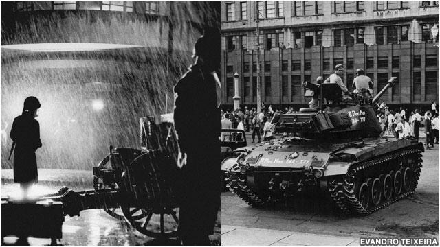 Tanques nas ruas