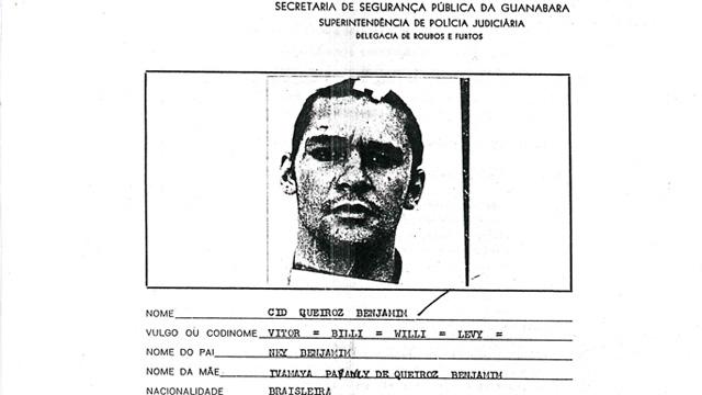 Ficha policial de Cid Benjamin