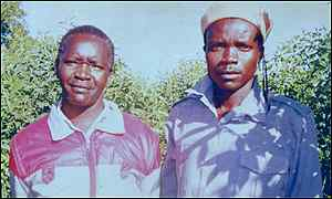 Youssef Adek and Joseph Kony, leader of LRA rebels