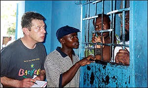 Andy Kershaw in Haiti
