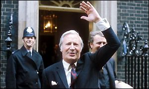 Edward Heath winning the 1970 General Election