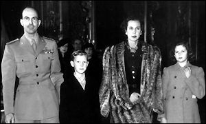 The Italian Royal family in 1945
