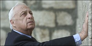 Ariel Sharon at the Wailing Wall