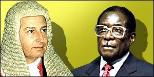Justice Gubbay and President Mugabe