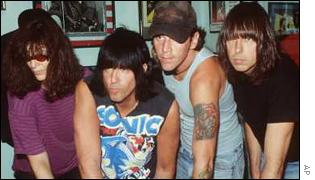 Joey Ramone, Marky Ramone, CJ Ramone and Johnny Ramone
