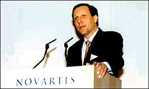 Novartis chairman and CEO Daniel Vasella