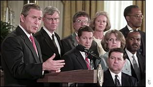 President Bush with nominees