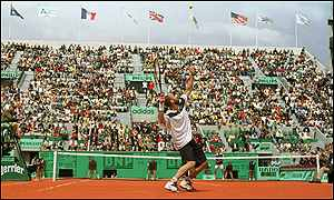 Andre Agassi at Roland Garros