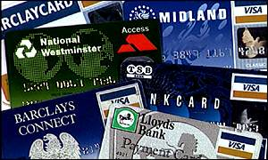 A range of credit cards available in the UK