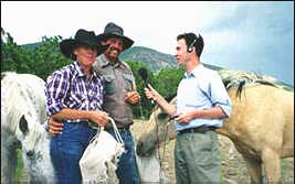 Tim Whewell and Sherry Laney in Catron Country, NM, July98