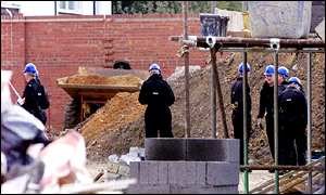 Essex Police searching building site