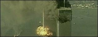 The second plane hits the World Trade Centre