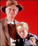 Jed Clampett and Granny of the Beverly Hillbillies