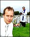 Paul Kenyon attends his own burial