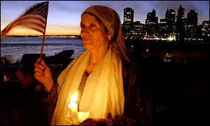 Arab American waving USA flag