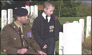 Sgt Major Hayden Aldred with Jay Wilkinson