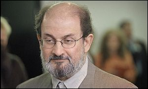 The author Salman Rushdie