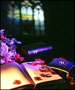 Prayer books and rings