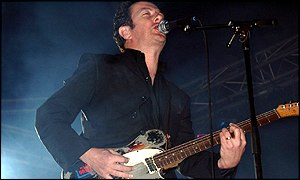 Joe Strummer performing at the Womad Festival in Gran Canaria