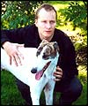 Paul Kenyon and his Greyhound