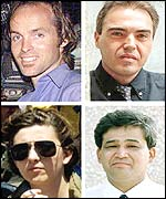 Top row Harry Burton and Julio Fuentes, bottom row Maria Grazia Cutuli and Azizullah Haidari