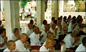 Cambodians praying