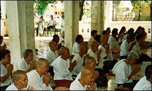 Cambodians praying