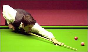 Ronnie O'Sullivan in action earlier in the year