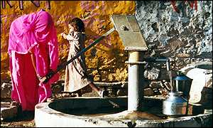 Women collecting water
