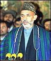Interim President Hamid Karzai