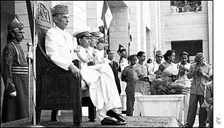 Mohammed Ali Jinnah on 17 August 1947