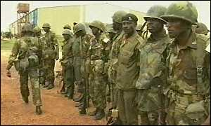 Liberia troops
