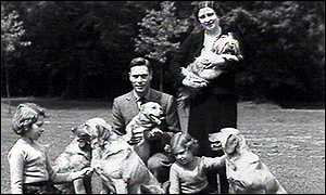 Family man: the future King George VI with his wife and daughters