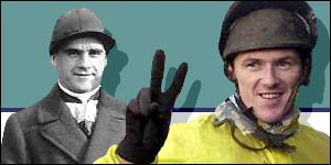 Champion jockeys Sir Gordon Richards and Tony McCoy