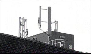 Mobile phone mast next to primary school
