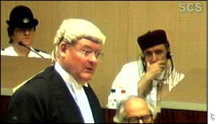Bill Taylor, QC, in court with al-Megrahi