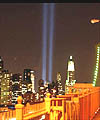 'Tribute in Light' beams rise up from near the Twin Towers site