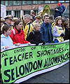 Teachers' protest in London in March