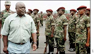Laurent Kabila with Congolese troops