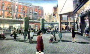 An artist's impression of the Exeter development plans