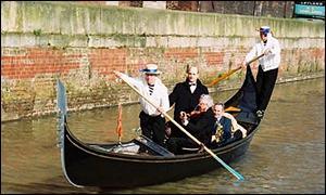 Gondola on Rochdale canal