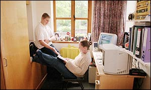 Students in halls of residence