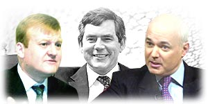 Charles Kennedy, Gordon Brown and Iain Duncan Smith