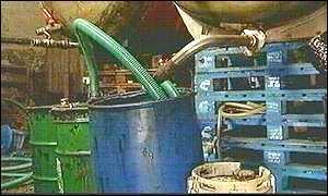 Illegal fuel laundering plant